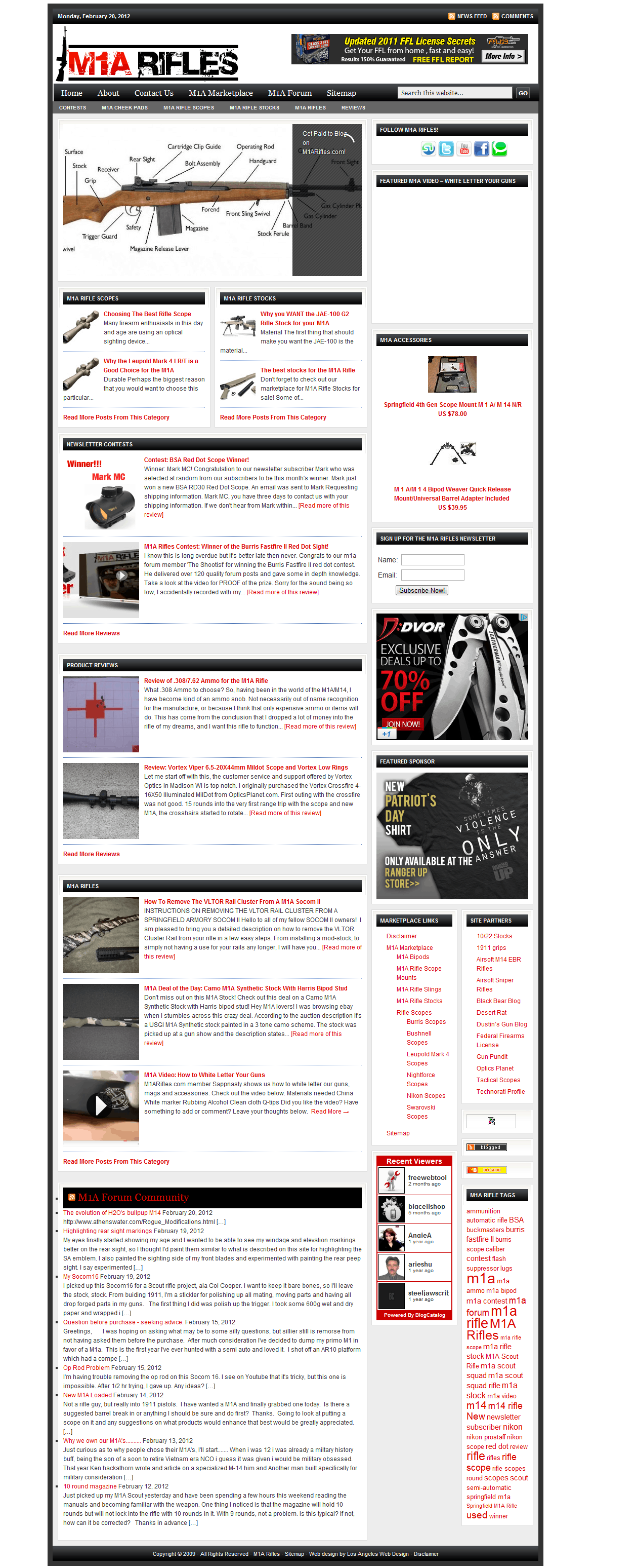 M1a Rifles web design