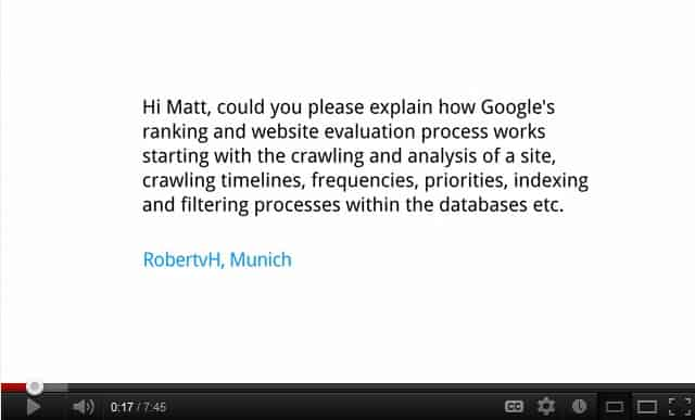 Matt Cutts Explains Google Search