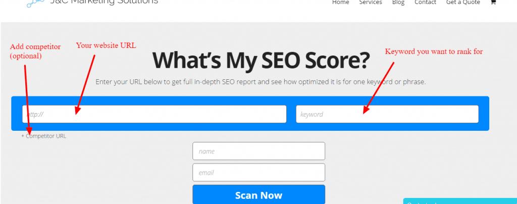 Free Online Website SEO Grader Tool